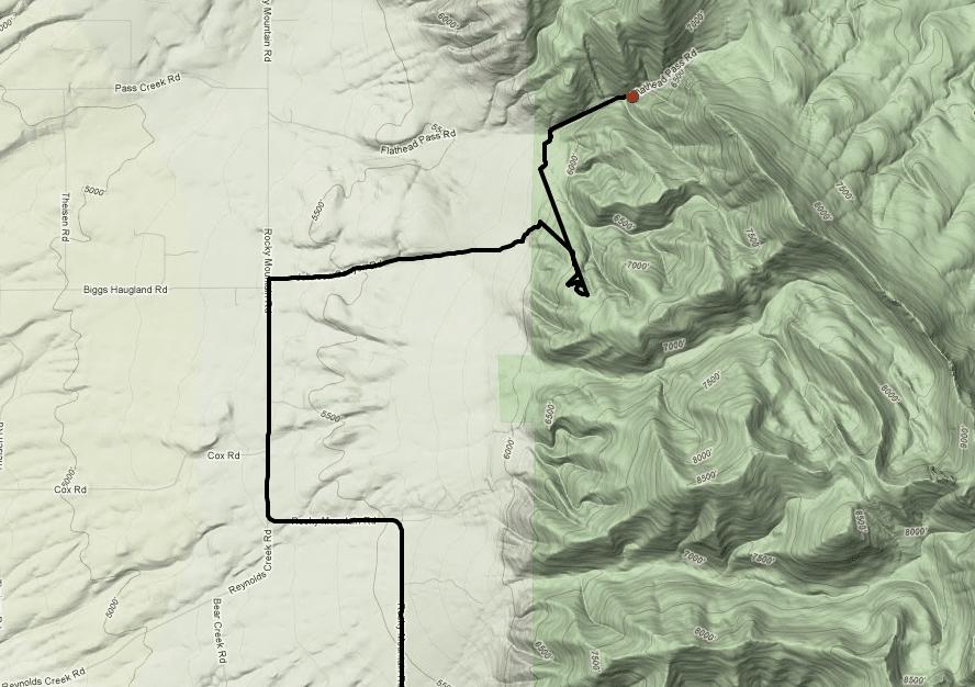 Bridgers Flathead Pass