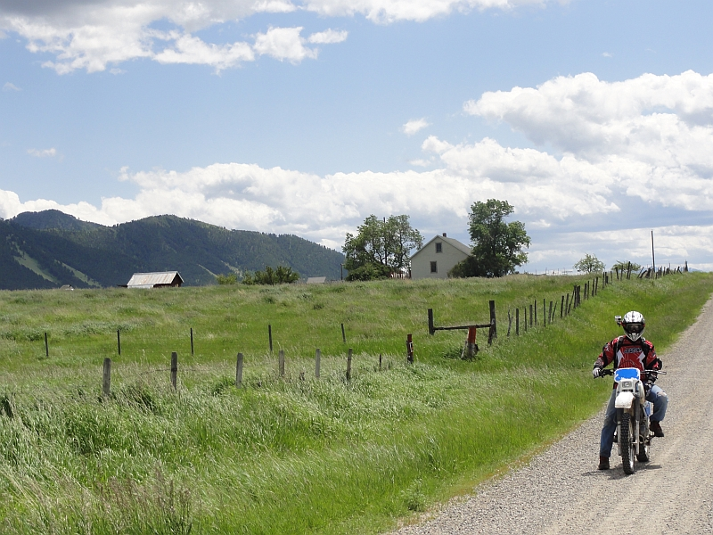 Motorcycle riding in Montana