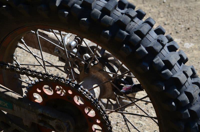 hook in motorcycle wheel