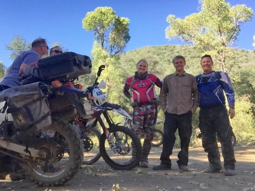 Motley Crew  of dual sport riders